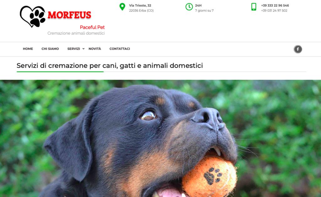 Creazione sito Morfeus Pet